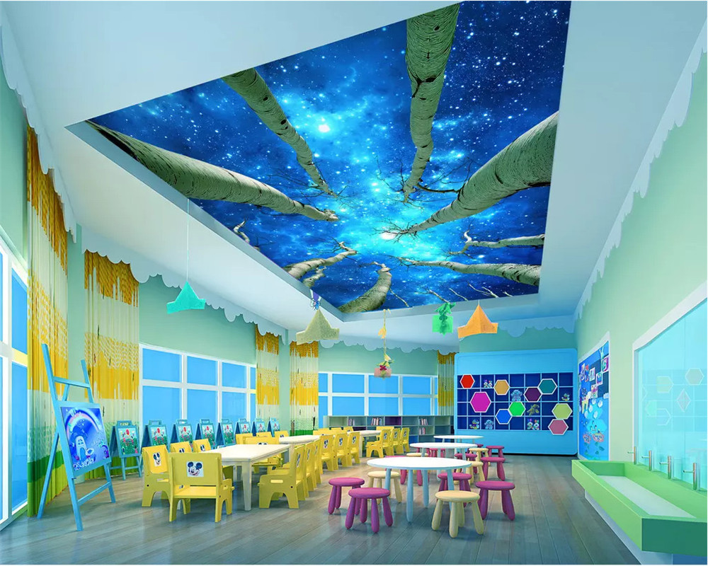 Beibehang 3d Large Wall Mural Wallpaper Hd Bridge At Night: Beibehang 3d Wallpaper Papel De Parede Fashion HD Night