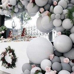 5/18/36 polegada enorme macaron pastel cinza balões redondos látex matte ar ballons arco chuveiro do bebê decoração de aniversário casamento