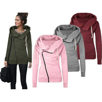 Zogaa Autumn Winter Womens Cotton Sport Hoody Hoodie Sweater Lady's Hooded Pullover Sweatshirt Jumper Coat Jacket hooded suits