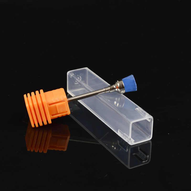 Lcj 1 pçs açúcar elétrica prego broca escova de limpeza arquivo polimento griding manicure unha arte brocas bit limpeza acessórios ferramentas