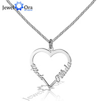 DIY Heart Shape Name Necklace 3 Color Personalized 925 Sterling Silver Name Necklace Lovers Gift With