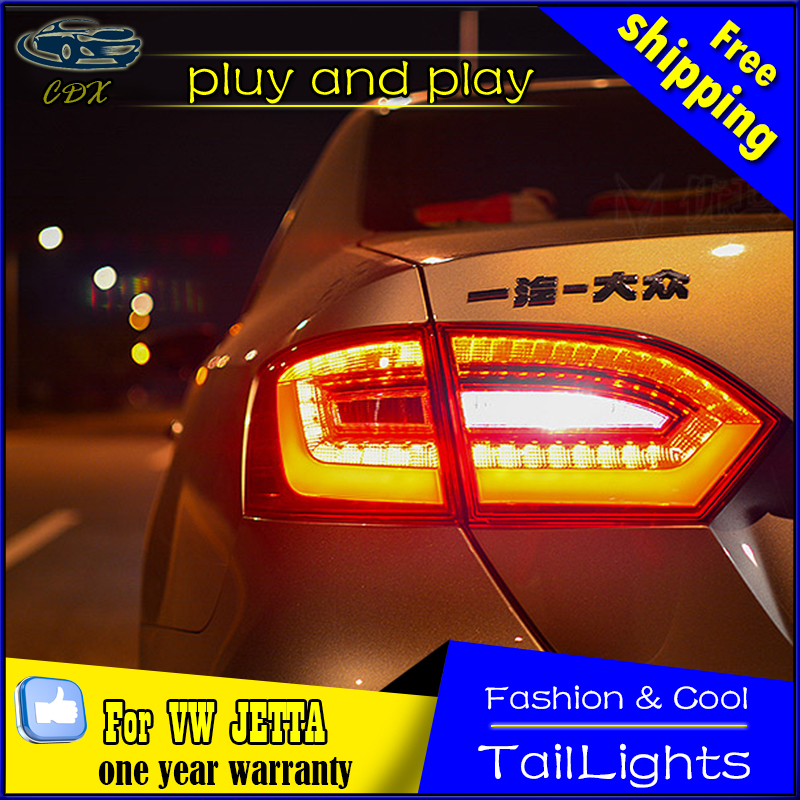Car Styling Tail Lamp for Volks Wagen Jetta Mk6 LED Tail Light 2011-2014 A4-Design Rear Lamp LED DRL+Brake+Park+Signal Stop Lamp car styling tail lamp for vw jetta 2011 2014 tail lights led tail light rear lamp led drl brake park signal stop lamp