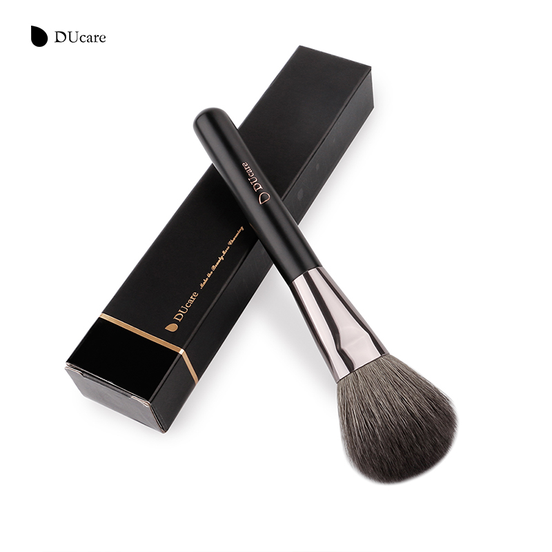 DUcare Round Deluxe Large Powder Brush Blush Brush FanTopest Goat Hair Powder Makeup Brush For Beauty Essential Tool ducare large deluxe powder brush blush professional goat hair wooden handle face make up brushes cosmetics makeup tools