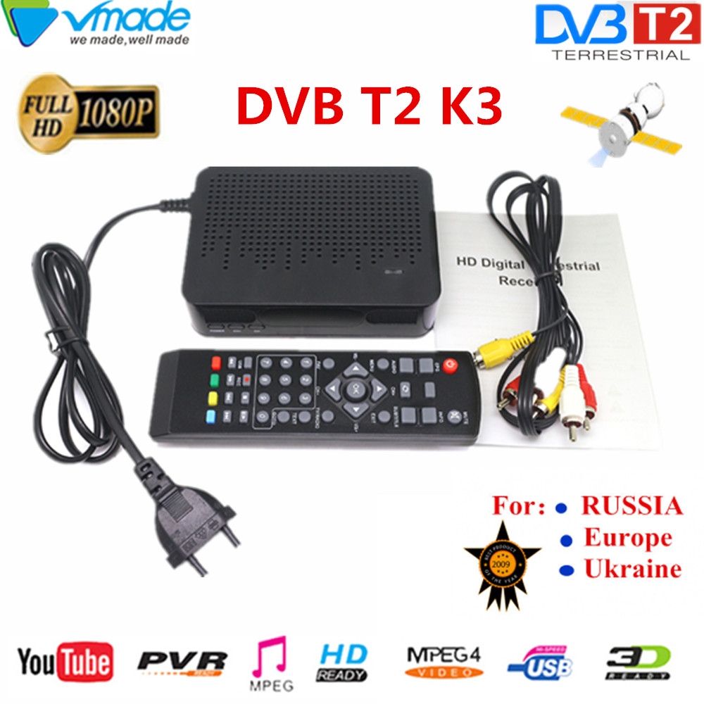 HD Digital Terrestrial Signal TV Receive DVB T2 K3 MPEG 4 H.264 Support Youtube MEGOGO PVR DVB TV BOX Full HD 1080P Media Player