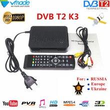 HD segnale Digitale Terrestre ricevitore tv DVB T2 K3 MPEG 4 H.264 di sostegno youtube MEGOGO PVR DVB TV BOX full HD 1080P Lettore Multimediale
