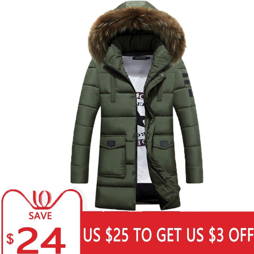 48f870ff1 SaveMoneyKing - Winter Jacket Men Warm Padded Cotton Thick Long ...
