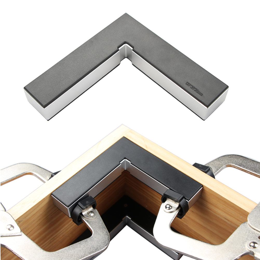 2pcs 90 Right Angle Clamp Woodworking Fixing Fixture Aluminum Alloy Right Angle Positioning L Block Right Angle Tool Set