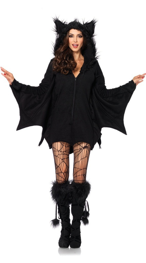 New Vampire cosplay Halloween bat full sleeve black evil role playing succuba game costume halloween costumes for women witch