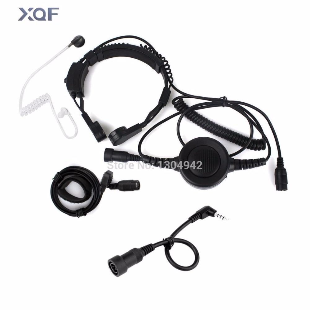 bilder für Military FBI Leibwächter Throat Mic Mikrofon Covert Akustische Rohr Ohrhörer Headset 1-poligen 3,5mm fo Yaesu Vertex Radio
