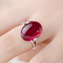 Oval Big Stone Rings for Women Luxury Adjustable Women Vintage Ring Fashion Jewelry Female Engagement Wedding Party Finger Ring