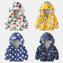 Children's jacket 2019 modis autumn new cartoon coats pattern boy girl jacket hooded jacket children's windbreaker
