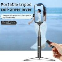 Bonola портативный интегрированный штатив селфи-палка со скрытым кронштейном для телефона с Bluetooth кнопкой для телефона с таймером для телефон... 4