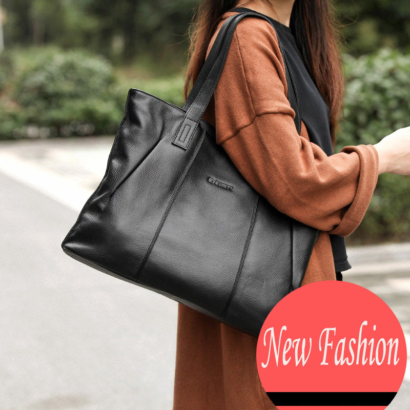 Fashion Hot Simple Genuine Leather duffle bag Casual beautifully decorated women's handbags High-capacity shopping bags studd decorated belt