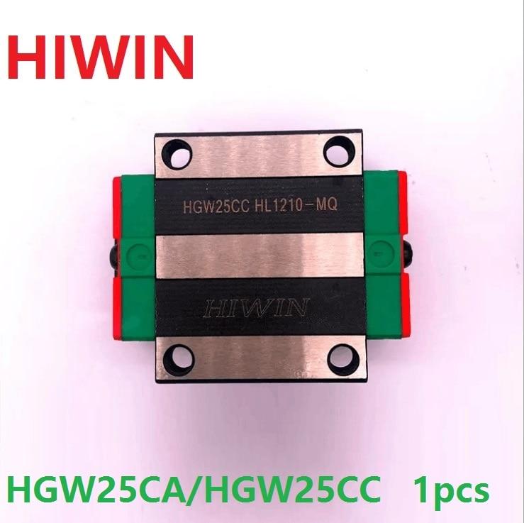все цены на 1pcs 100% original Hiwin HGW25CA/HGW25CC linear flanged block match with HGR25 linear rail (only blocks) онлайн