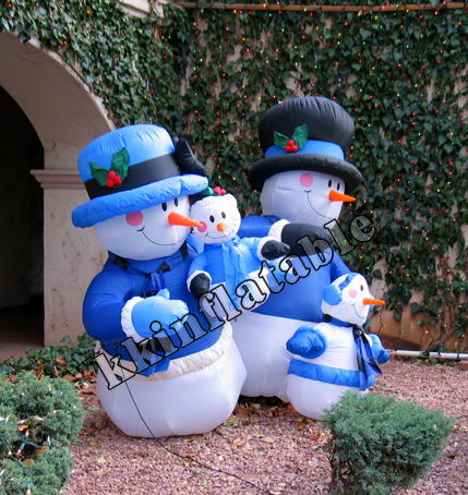 Snow Man Advertisiig Inflatables For Outdoor Christmas Decoration