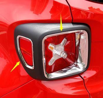 ABS Chrome רכב אחורי מנורת זנב אור כיסוי trim עבור Jeep Renegade 2015 2016 2017 אביזרי רכב סטיילינג קישוט מדבקה 4 pcs