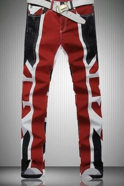 2015 England personalized man pants slim fashion casual printed jeans famous brand mens denim jeans motorcycle