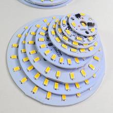 10 шт., алюминиевый светодиодный модуль, интегрированный драйвер, лампа SMD 5730 AC 220 V, белый/теплый, для замены, потолочный светильник