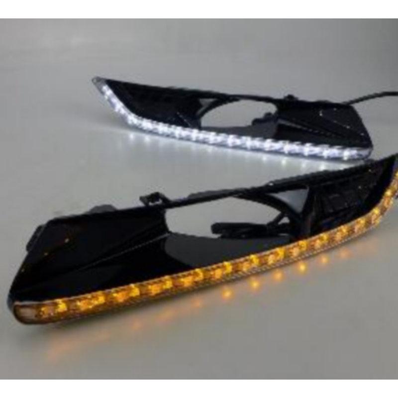 Free Shipping 2x White LED Light Daytime Running Lights DRL for Honda crosstour 2010 high configuration