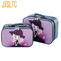 JXSLTC Luxury PU Leather Women Portable Cosmetic Bag Designer Beautician For Cosmetics Organizer Box Travel Makeup