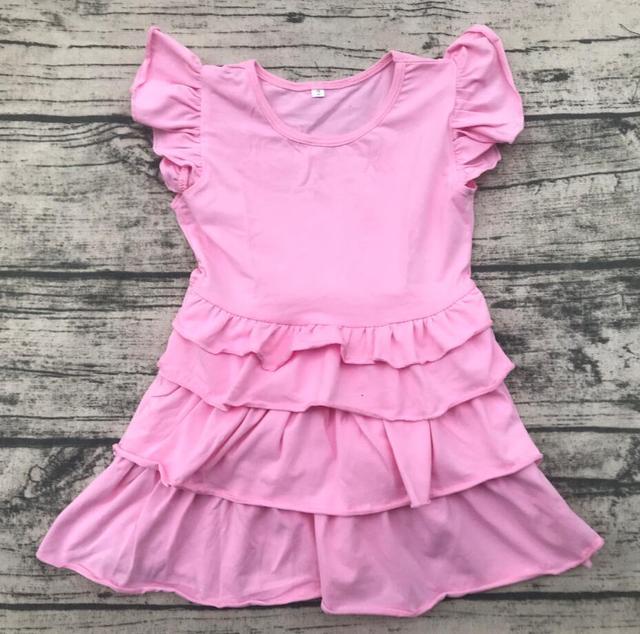 585d8fd28647 wholesale frock design kids girl party dress children summer pink ...