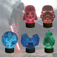 3D Design Bulbing Night Light Star Trek Stormtrooper Darth Vader Death Srar Desk Lamp Colorful Kids