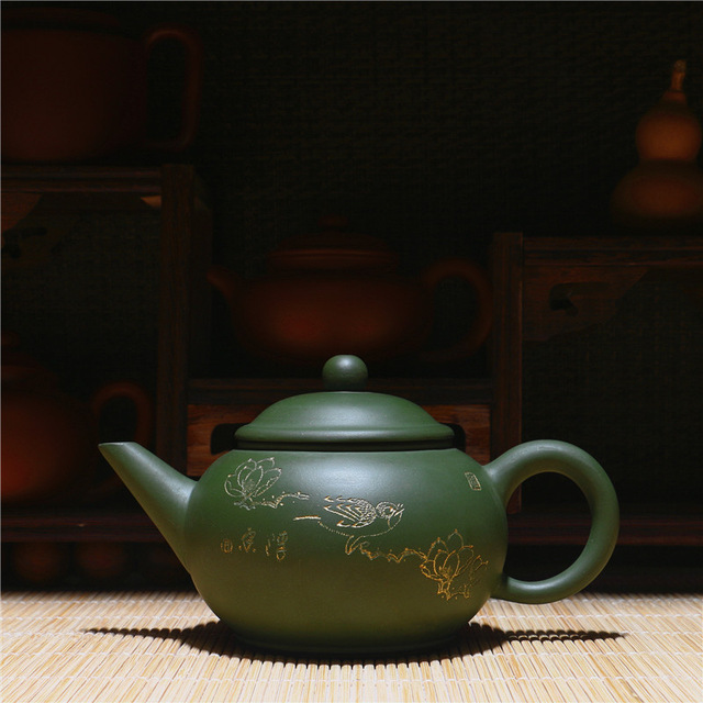 Free Shipping 210ml Raw Ore Rare Sky Cyan Clay Kung Fu Tea Pot Yixing Genuine Purple Clay teapot Factory Direct Gift BOXFree Shipping 210ml Raw Ore Rare Sky Cyan Clay Kung Fu Tea Pot Yixing Genuine Purple Clay teapot Factory Direct Gift BOX