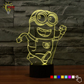 Color Changing Baby Night Light LED Lamp Luminaria 3D Minions Acrylic Bedroom Lighting Toy Decor Nightlight for Children Gifts