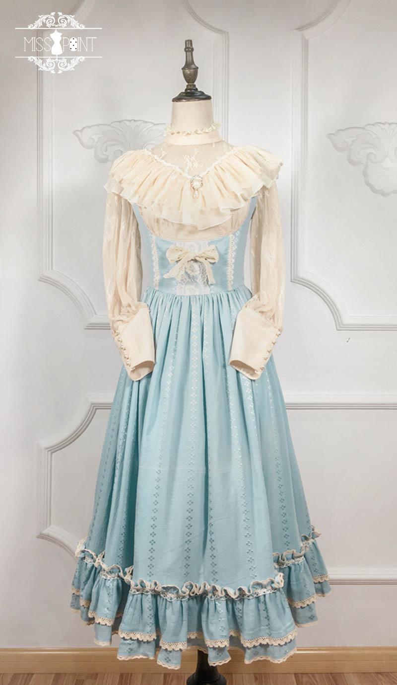 미스 앤 ~ 빈티지 스타일 주름 장식 jsk 드레스 귀여운 미디 드레스 미스 포인트 ~ 맞춤형-에서드레스부터 여성 의류 의  그룹 2