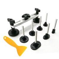 10pcs Super PDR Car Dents Repair Tool Stainless Steel Free Sheet Metal Repair Bridge Kit Tools