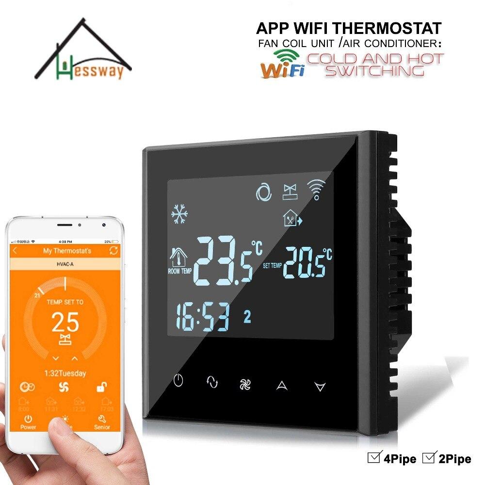HESSWAY 4 P 2 APP контроллер программируемый сенсорный экран WiFi термостат с фанкойл блок
