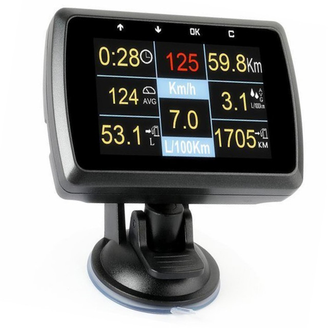US $49 99 |New OBD OBD2 Gauge Holder Driving Speed Meter Fuel Water  Temperature Display For Vehicle -in Gauge Trim from Automobiles &  Motorcycles on