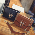 2017 Spring All-Match Lockbutton Bag Fashion Brief Shoulder Bag Casual Chain Women'S Cross-Body Handbag