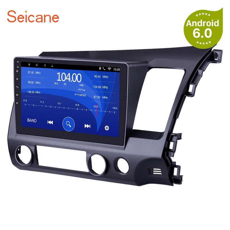 Seicane Android 6,0/7,1/10,1 8,1 Автомобильный Радио gps навигационная система мультимедийный плеер для 2011-2006 HONDA CIVIC правый руль