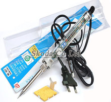 Promo Free shipping EU Plug GJ 907 Adjustable constant temperature electric soldering iron+Y-type iron frame+Sponges for gift