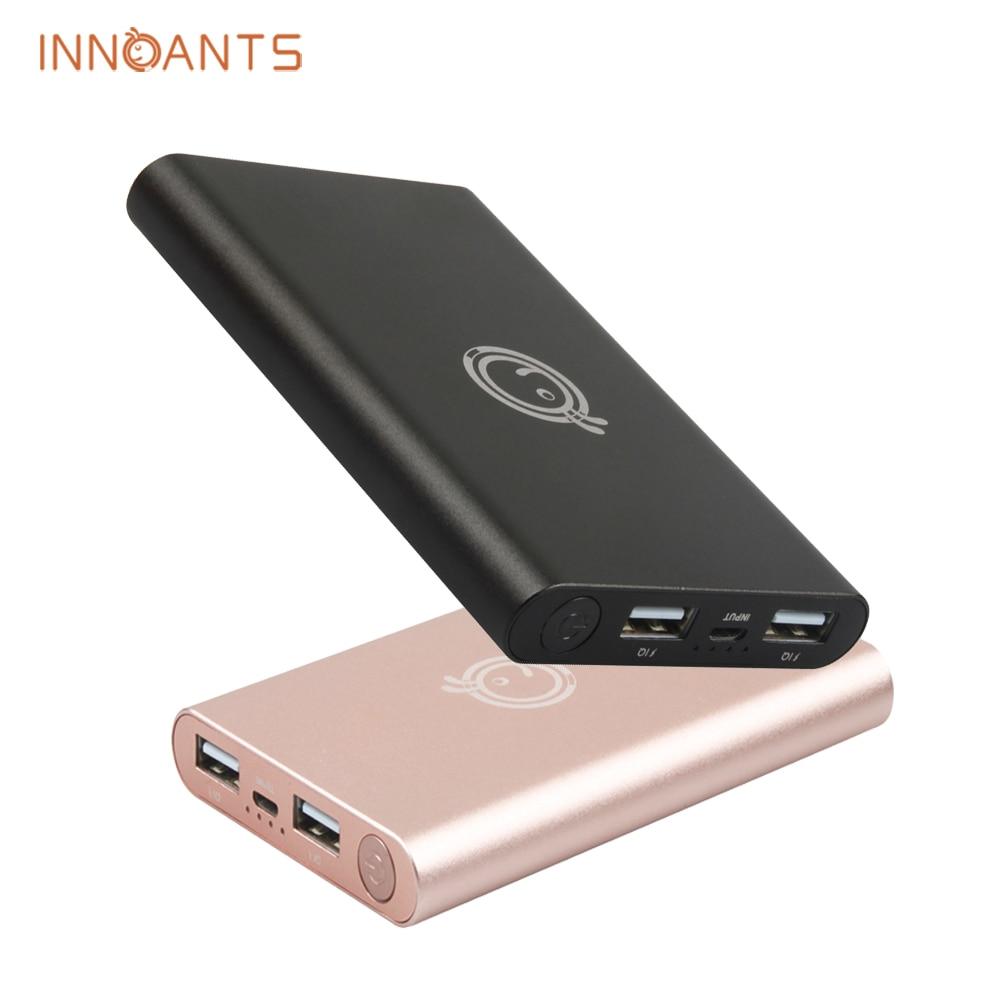 Nueva Original Innoants Banco de la Energía 10000 mAh Dual USB Cargador de Bate