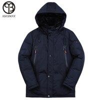 Asesmay Новое поступление зимняя куртка для мужчин Стеганое пальто S парка толстые теплые высокое качество Европейский размеры толстовк