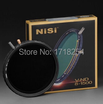 NiSi 77mm ND8 to ND1500 Multi-Coated Variable Neutral Density Ultra thin ND Filter V-ND 8-1500 (Adjustable 3-10.5 Stop Exposure) nisi nd1000 obscuration mirror ultra thin 72mm neutral density mirror nd lens nd 1000