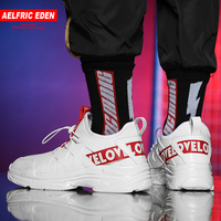 Aelfric Eden Casual Sneakers Letter Print Patchwork Male Shoes Spring Comfortable Men's Designer Quality Walking Footwear AE14