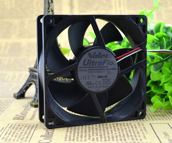 Wholesale: original 90*90*25 T92T24MGA7-52 24V 0.10A NIDEC inverter fan original nidec alpha v ta300 a30479 10 230v 8038 cabinet radiator fan