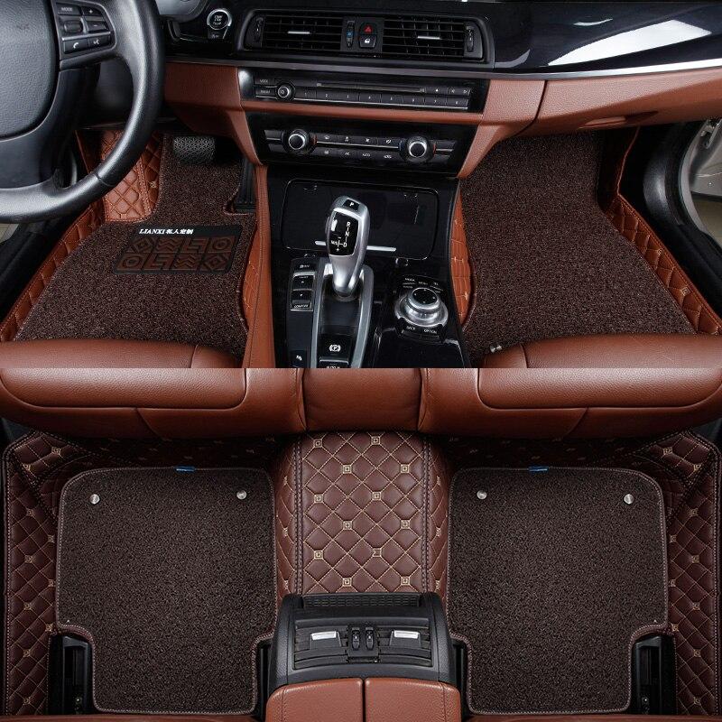 Voiture tapis de sol pour hover H1 H2 H3 H5 H6 H8 H9 M1 M2 M4 voiture accessoire de voiture style Personnalisé voiture tapis de sol Noir/Gris/Bleu/Beige