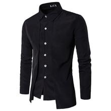Men Long Sleeve Patchwork Tuxedo Shirts