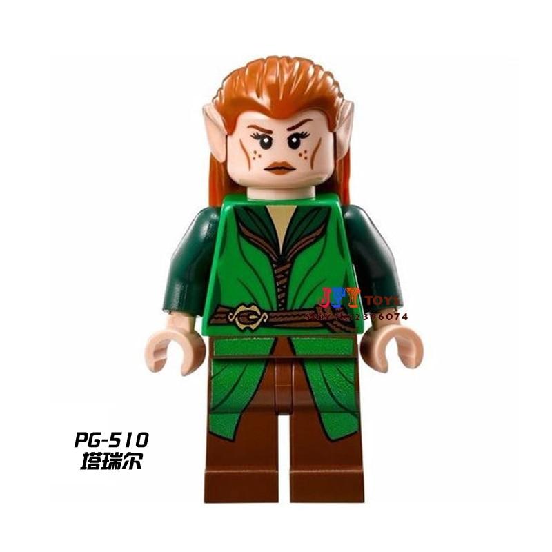50pcs The Hobbit Tauriel LOTR movie building blocks bricks friends for girl boy kids children toys brinquedos menina