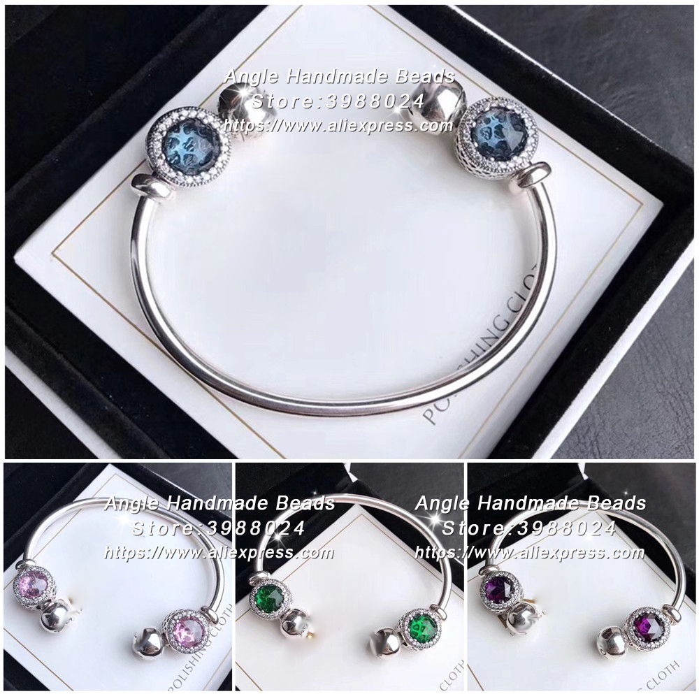 2017 Fashion Jewelry S925 Sterling Silver Open Bangle Finished Bracelet Set Fit Woman Gifts For Girls2017 Fashion Jewelry S925 Sterling Silver Open Bangle Finished Bracelet Set Fit Woman Gifts For Girls