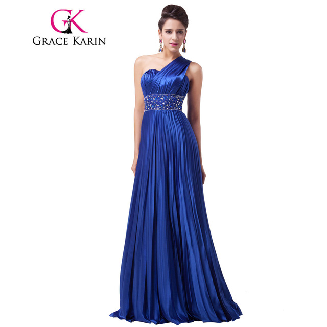 Aliexpress.com : Buy Grace Karin Royal Blue Long Prom Dress One ...