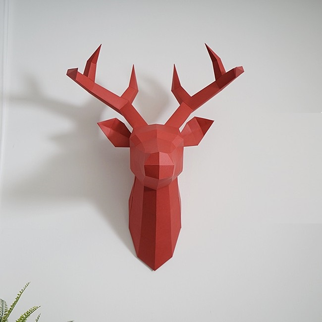 3D Paper Model Creative Deer Papercraft Home Decor Wall Decoration Puzzles Educational DIY Kids Toys Birthday Gift 897