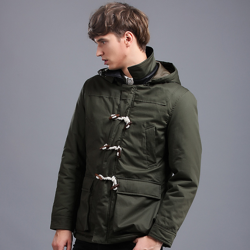 2018 New Hot Popular British Style Mens Winter Coat Loose Young Fashion Jacket Winter Men Hooded Male Thick Winter Male Jacket hot style three points children quilted loose coat