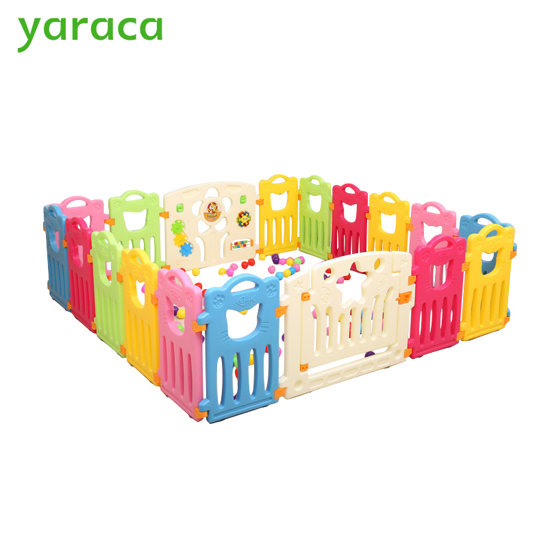 Baby Playpen Kids Play Yard Fencing For Children Plastic Fence Kids Baby Safety Fence Safety Barriers For Children Protector цены онлайн