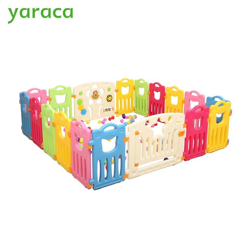 Us 11999 19 Offbayi Boks Anak Anak Bermain Halaman Pagar Untuk Anak Plastik Pagar Anak Anak Bayi Keselamatan Pagar Hambatan Keselamatan Untuk Anak