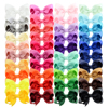 3 inch 40 Bulk Small Toddler Ribbon Bows Alligator Hair Clips Solid Children Hair Bows For Pigtails Little Girl Hair Accessories